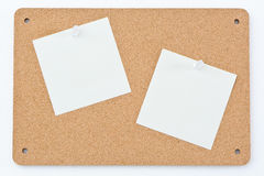 Notice Board With Post Notes Royalty Free Stock Images