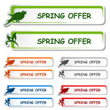 Notice board - spring offer label Royalty Free Stock Image