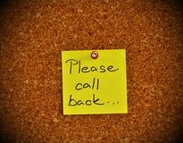 Notice board with sticky note pad Royalty Free Stock Images