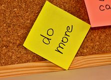 Notice board with sticky note pad Stock Photo