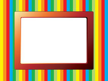 Notice board with striped background Royalty Free Stock Photos