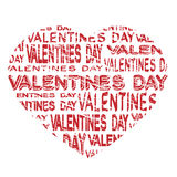 Notice board - valentines day grunge label. Illustration Royalty Free Stock Photography
