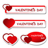 Notice board - valentines day label Stock Photo