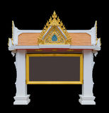 Notice boards. Thailand style, in temple, Advertising boards Royalty Free Stock Photography