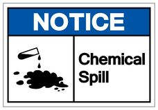 Notice Chemical Spill Symbol Sign, Vector Illustration, Isolate On White Background Label. EPS10 royalty free illustration