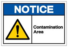 Notice Contamination Area Symbol Sign, Vector Illustration, Isolate On White Background Label .EPS10. Notice Contamination Area Symbol Sign, Vector Illustration stock illustration