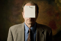 Notice covering face_1 Stock Image