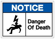 Notice Of Death Symbols Sign, Vector Illustration, Isolated On White Background Label. EPS10 vector illustration