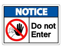Free Notice Do Not Enter Symbol Sign Isolate On White Background,Vector Illustration Royalty Free Stock Photo - 148913565