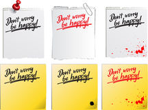 Notice_dont_worry Stock Images