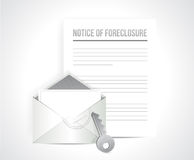 Notice of foreclosure letter and envelope. Stock Images