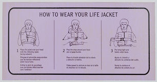 Notice how to use the lifejacket Royalty Free Stock Photo