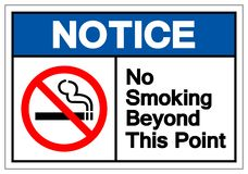 Notice No Smoking Beyond This Point Symbol Sign, Vector Illustration, Isolate On White Background Label .EPS10 vector illustration