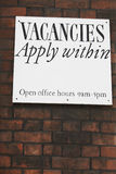 Notice Offering Job Vacancies On Brick Wall Royalty Free Stock Photo