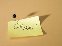 Notice paper. Stick on memo board royalty free stock images