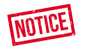 Notice rubber stamp Stock Photography