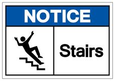 Notice Stairs Symbol Sign, Vector Illustration, Isolate On White Background Label. EPS10 stock illustration
