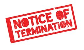 Notice Of Termination rubber stamp Vector Illustration