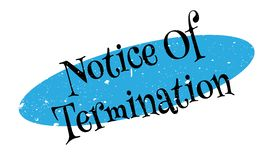 Notice Of Termination rubber stamp Royalty Free Illustration