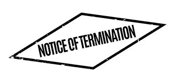 Notice Of Termination rubber stamp Stock Illustration