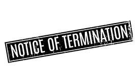 Notice Of Termination rubber stamp. Grunge design with dust scratches. Effects can be easily removed for a clean, crisp look. Color is easily changed Royalty Free Stock Photo