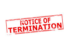 Notice of termination Royalty Free Stock Photography