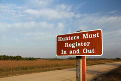 Notice to Hunters Royalty Free Stock Photos