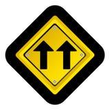 Notice warning emblem with sign icon. Illustration design Stock Images