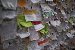 Noticeboard после обеда стоковые изображения rf