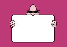 Noticeboard dos desenhos animados ilustração do vetor