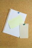 noticeboard notepaper Стоковое фото RF