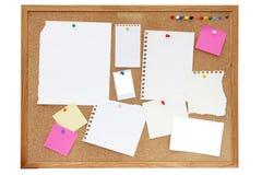 Noticeboard oder Pinboard Stockfotografie