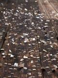 Noticeboard op planken Royalty-vrije Stock Foto's