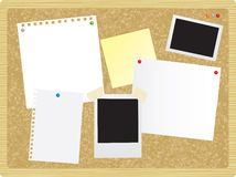 Noticeboard or pinboard Royalty Free Stock Photos