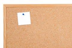 Noticeboard van cork stock afbeeldingen