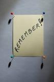 Noticesheet - tarjeta de la idea Fotos de archivo libres de regalías
