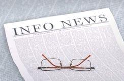 Noticia-Info Foto de archivo libre de regalías
