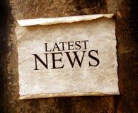 Noticias Imagen de archivo libre de regalías