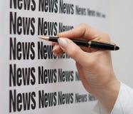 Noticias a bordo Imagen de archivo libre de regalías