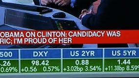 Noticias de última hora del resultado de elección de los E.E.U.U. en discusiones de las noticias del canal de televisión de Bloom almacen de metraje de vídeo