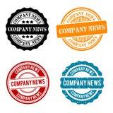 Noticias de la compañía alrededor de la colección de sello Insignia del vector Eps10 stock de ilustración