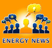 Noticias de la energía que muestran el ejemplo de Electric Power 3d Foto de archivo libre de regalías
