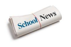 Noticias de la escuela Imagen de archivo