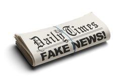 Noticias de la falsificación de Daily Times Foto de archivo