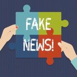 Noticias de la falsificación del texto de la escritura Broma insustanciada falsa de la información del significado del concepto ilustración del vector