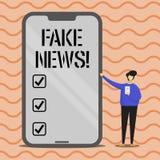 Noticias de la falsificación del texto de la escritura de la palabra Concepto del negocio para la broma insustanciada falsa de la ilustración del vector