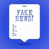 Noticias de la falsificación del texto de la escritura de la palabra Concepto del negocio para las historias falsas que aparecen  ilustración del vector