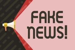 Noticias de la falsificación de la escritura del texto de la escritura Broma insustanciada falsa de la información del significad ilustración del vector