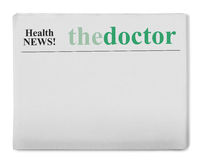 Noticias de la salud Imagen de archivo libre de regalías