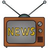 Noticias de la TV Fotografía de archivo libre de regalías